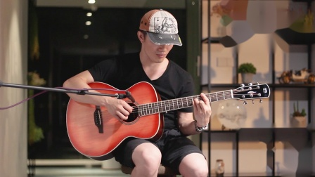 OTIS奥司 40云桃Auditorium桶亮光面单新经典系列吉他 FA-22RS 《我要你》