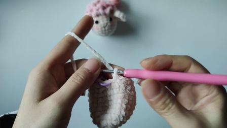 遇见手作馆   雪绒花绒绒线材小羊钩针编织零基础新手视频教程