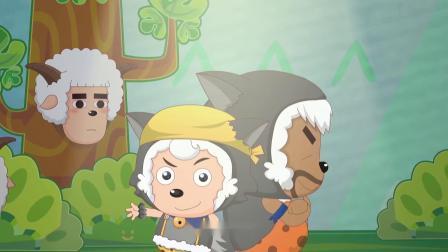 喜羊羊与灰太狼:懒羊羊和红太狼演话剧,小灰灰非常羡慕,心疼小灰灰