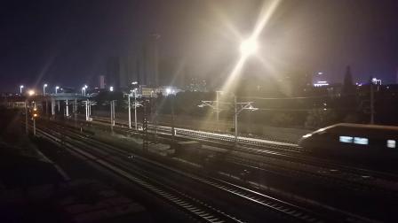 20200709 221049 西成高铁D1992次列车进汉中站,阳安线上行即将来车