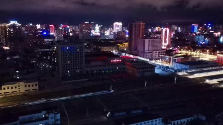 20200714 205359 西成高铁G349次列车高速通过汉中站