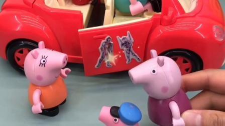 佩奇猪妈妈去画画了,乔治和猪奶奶在家,要好好听猪奶奶的话