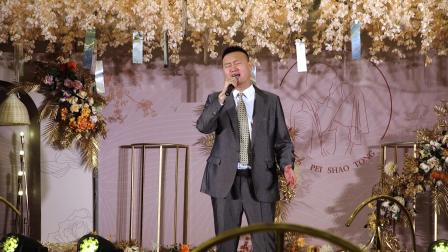 招远喜良缘婚礼舜和2楼浅香槟奔枫鸟吊顶