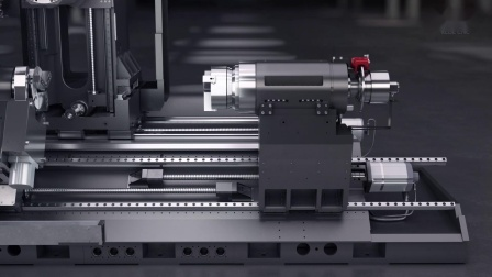 KTX 1250TC 卧式铣车加工中心 全方位展示