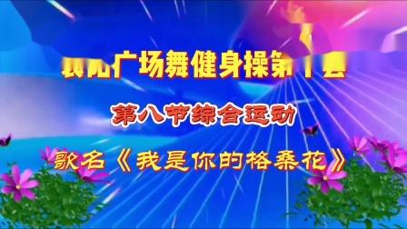 襄阳广场舞健身操第十套第八节-原创编排-竹子