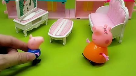 乔治测试猪妈妈,猪妈妈去帮猪爸爸,不料没找到