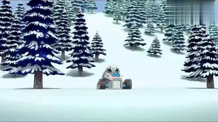 儿童早教动画,汪汪队在雪地里用无人机搜索到小天!