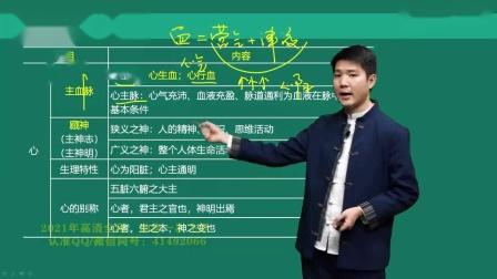 2021年中医内科主治医师考试 基础知识  第01讲藏象(一)