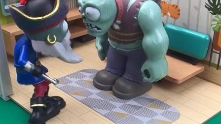 佩奇苏西和小鬼一起玩过家家,巨人僵尸误会了,小鬼和爸爸解释