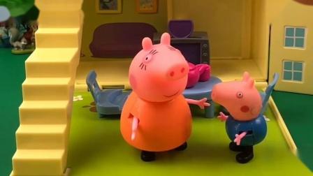 乔治回家情绪不高,原来乔治被老师教育了,猪妈妈听了很无语