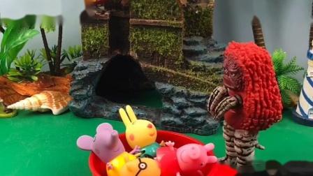 乔治说怪兽抓了小朋友,老师拦住了怪兽,怪兽和老师玩脑筋急转弯