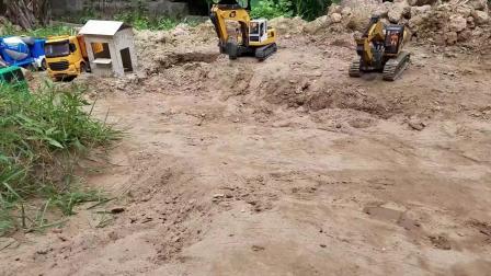 挖掘机运输队 53