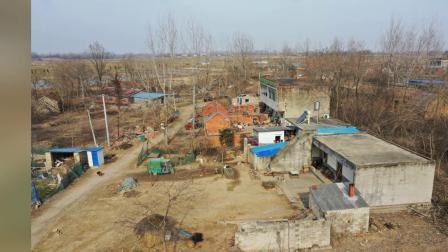 2021年1月16日无人机拍摄下洼村庄的照片