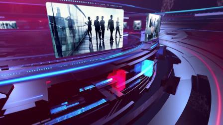 AE模板 三维新闻电视栏目包装片头 新闻字幕标题图片视频展示开场