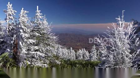 歌曲配乐 d193 2k超高清画质唯美漂亮冬天冬季雪景下雪雪花飘落冰雪融化白雪皑皑雪松雪山雪峰蓝天白云冰川雪地雪原滑雪童话世界旅游元旦圣诞节 动态视频 大屏素材