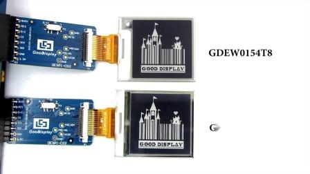 传统电子纸显示屏与DES电子纸显示屏的显示效果对比视频