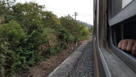8468次倒湖~黄山 通勤小票沿途风光 隧道 弯道