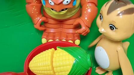 巨人僵尸要吃鸡蛋玉米,结果是别人的,想吃猪宝宝,佩奇也不同意