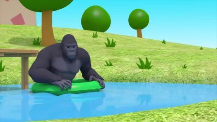 路西跳进游泳池里  把雷鹰弹飞了吗?迷你特工队游戏