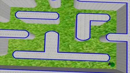 绿色的马里奥在吃豆人老窝里走来走去  难道不怕?吃豆人游戏