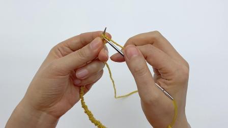 棒针编织 花点呢羊毛堆堆帽 课程试看 单螺纹上下针无痕圈针