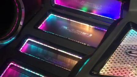 给汽车后备箱定制了LED多色RGB灯光渲染