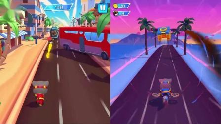 汤姆猫跑酷游戏 红色英雄汤姆猫vs蓝色汤姆猫