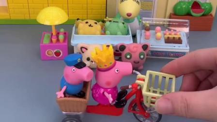 小猪佩奇带乔治出门,乔治以为能买东西,不料佩奇不让买