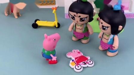 小猪佩奇不见了,乔治叫葫芦娃帮忙,找到小猪佩奇