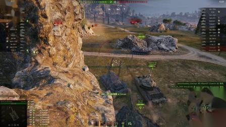 坦克世界 囧时刻与火力大魔王开领土战神45T