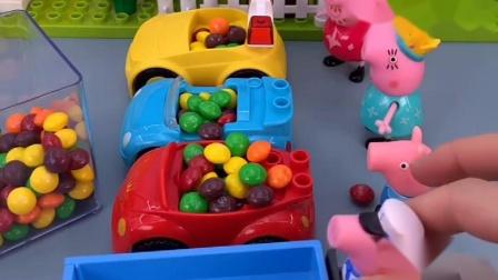 乔治说他很聪明,比佩奇她们的糖果多,真的是这样吗