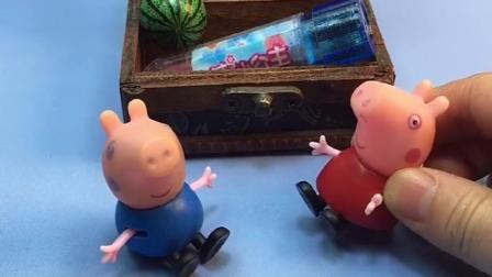 小猪佩奇发现乔治收拾玩具,不料乔治要把佩奇送给朵朵,佩奇不愿意