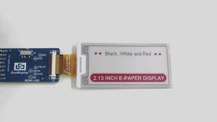 2.13寸黑白红三色电子纸显示屏,GDEH0213Z19  (黑白红)-局刷