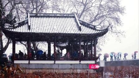冰雪风情之杭州的雪