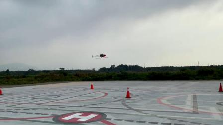 KingTech航模涡轴直升机KT800-H小试航线飞行
