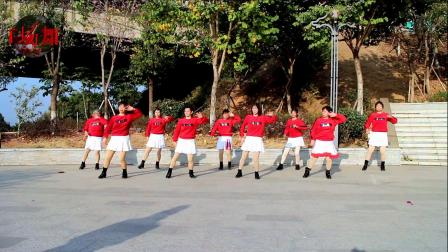 2021龙川思念广场舞姐妹演示:可可托海的牧羊人