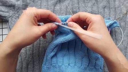 珍珍编织丛林套头毛衣后面液下收针