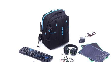 RIVACASE 7860 black Gaming backpack 17.3