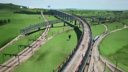 【狂热运输】展示在情人节的凌晨建造好的一个铁路疏解区