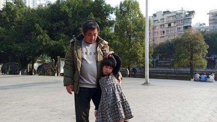 小羊子要回重庆了,2021正月初三老包谷爷爷陪她在滨河公园再玩玩(我的剪辑视频_202102141918)