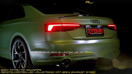 Audi A5 40 TFSI Coupé  Stone Turbo-back Exhaust System