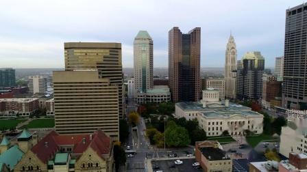 俄亥俄 哥伦布 无人机街拍 Columbus, Ohio Drone Footage