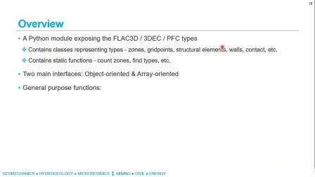 Using Python in Itasca Software