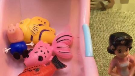 大鲨鱼抓走佩奇,大鲨鱼醒了,快帮帮猪妈妈吧!