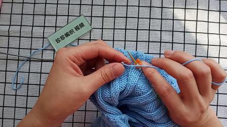 珍珍编织丛林套头毛衣挖前领视频