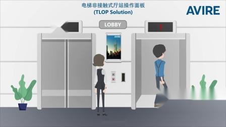 欧捷电梯非接触式厅站操作面板(TLOP Solution)