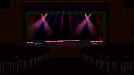 多功能会议厅小剧院3D效果展示视频