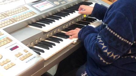 双排键电子琴演奏《荒野七侠》:飞飞