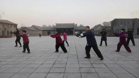 李永增领练杨式八十五式太极拳、二十八式太极拳