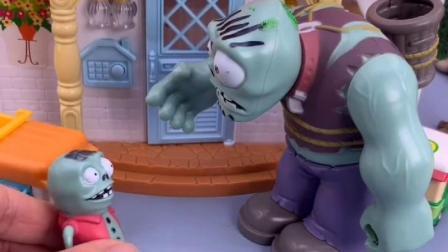 僵尸要抓小朋友,小鬼叫奥特曼吓唬僵尸,小鬼真善良!